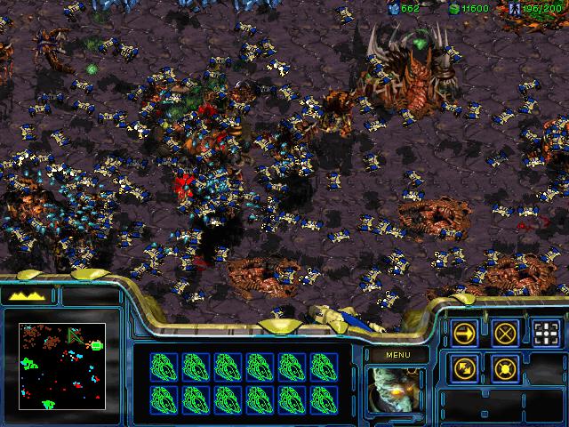 Starcraft, muchas unidades. Pero muchas ¿eh?