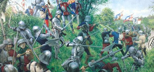 La guerra de las dos rosas se produjo en Inglaterra entre la casa de Lancaster y la casa York. Podría servir para un buen trasfondo para una guerra en Bretonia o el Imperio.