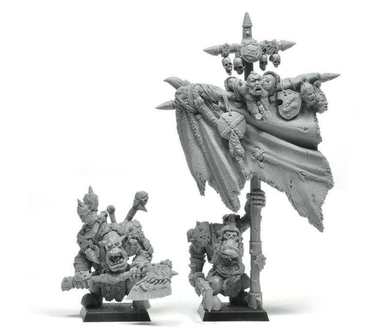 Grupo de mando orco Warhammer Forge (2013)