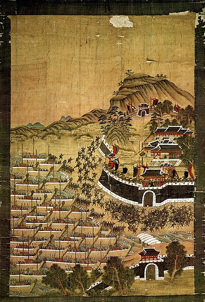 Los japoneses desembarcan en Busan