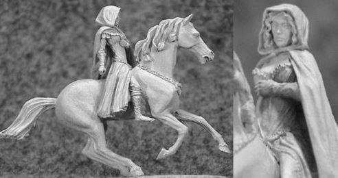 Dama elfa a caballo Hasslefree