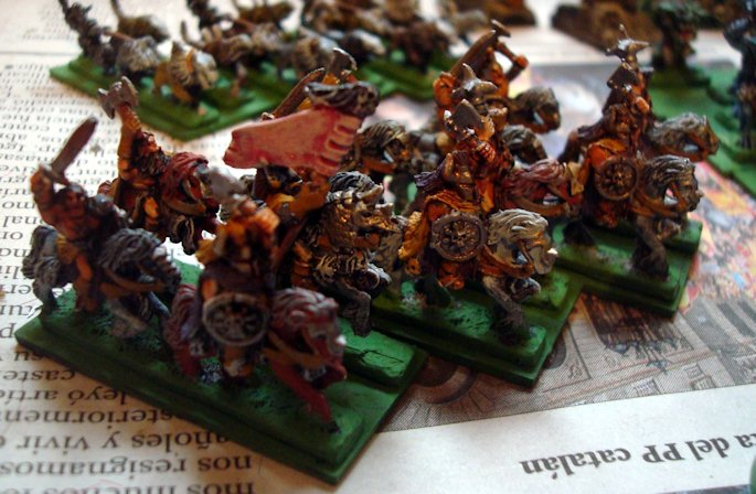 Nama Warmaster Caos Barbaros a caballo