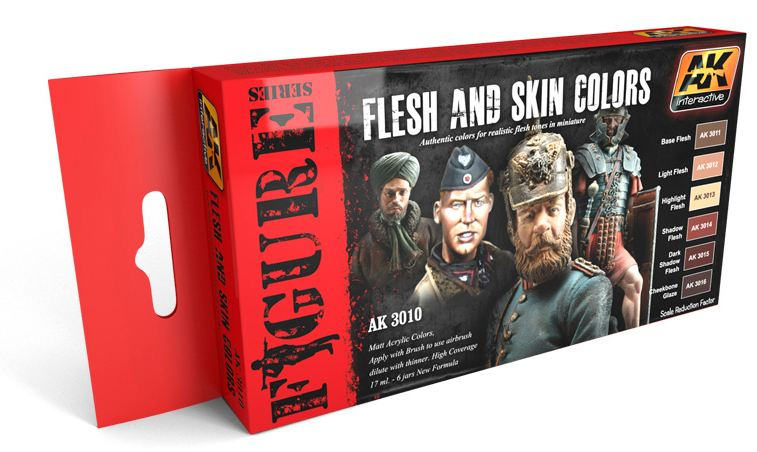 AK Interactive Flesh and skin colors