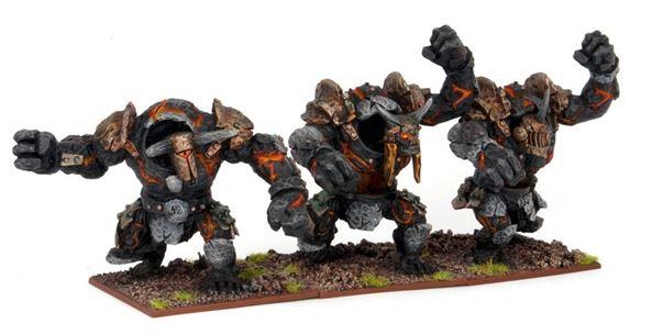 Mantic Abyssal Dwarf Obsidian Golems