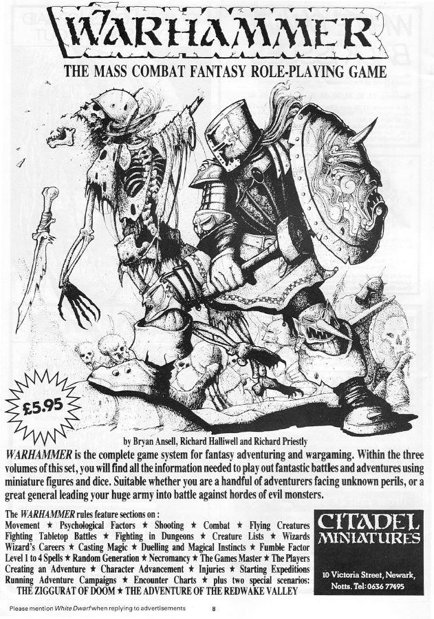 Primer anuncio Warhammer