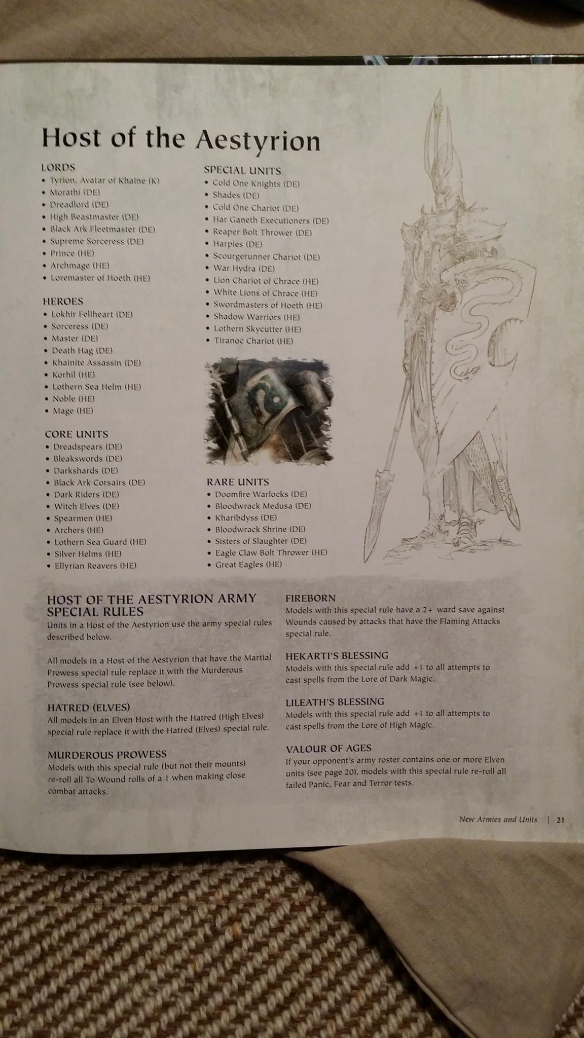 Warhammer Hueste de los Aestyrion