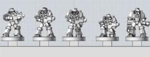 Una imagen de las figuras antes de la impresión 3D