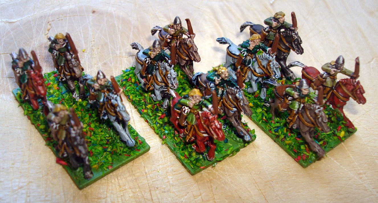 Copplestone Castings TM15 10mm Horse Tribe Archers pintados