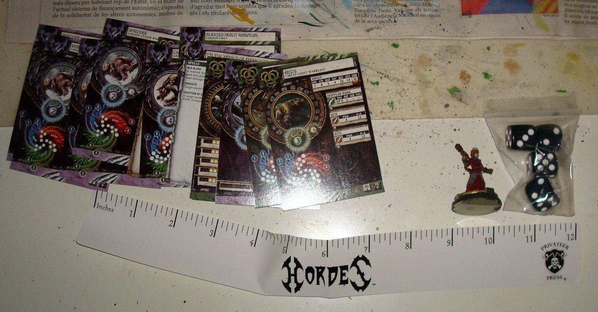 Unboxing Hordes 07 Regla dados cartas