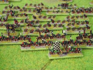 Esta partida de guerra está en formación 2/3/5/5/4/6... ¡malditos sean los Orkos!