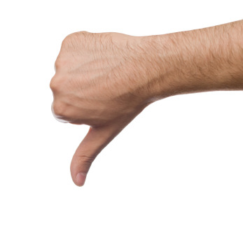 Non approving gesture