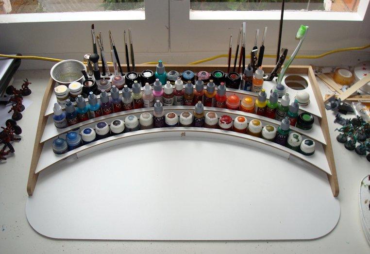 HobbyZone Professional Paint Station 17 Mesa llena