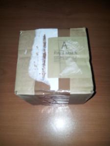 La caja, tal como se recibió