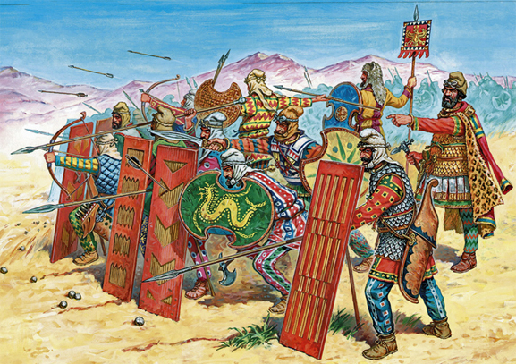 Achaemenian Persian Regiment in Battle