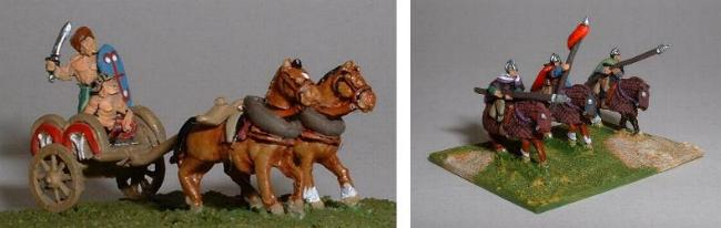 Irregultar Miniatures TR16 Gallic chariot TR21 Samartian heavy cav