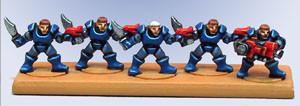 Exploradores Marines Espaciales. No lo parece, ¡pero son los de la caja básica!