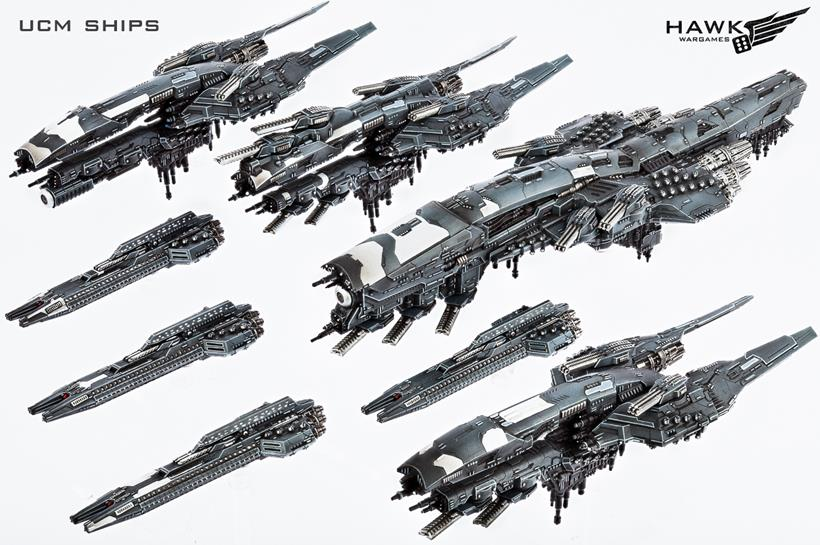 Dropfleet UCM naves