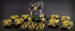 Un Titán, algo de infantería, y muchos Land Raiders: el ejército típico de Epic 40.000