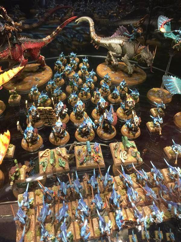 warhammer world lizardmen round bases