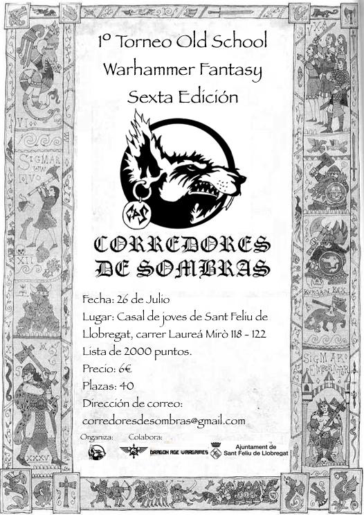 Torneo Warhammer 6 ed Corredores de Sombras