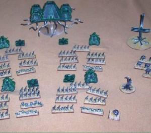 Ejército Necrón en todo su esplendor (visto en Epic: Raiders)