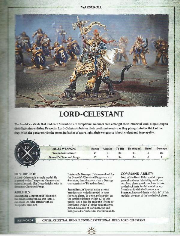 Warhammer AOS Warscroll Lord Celestan