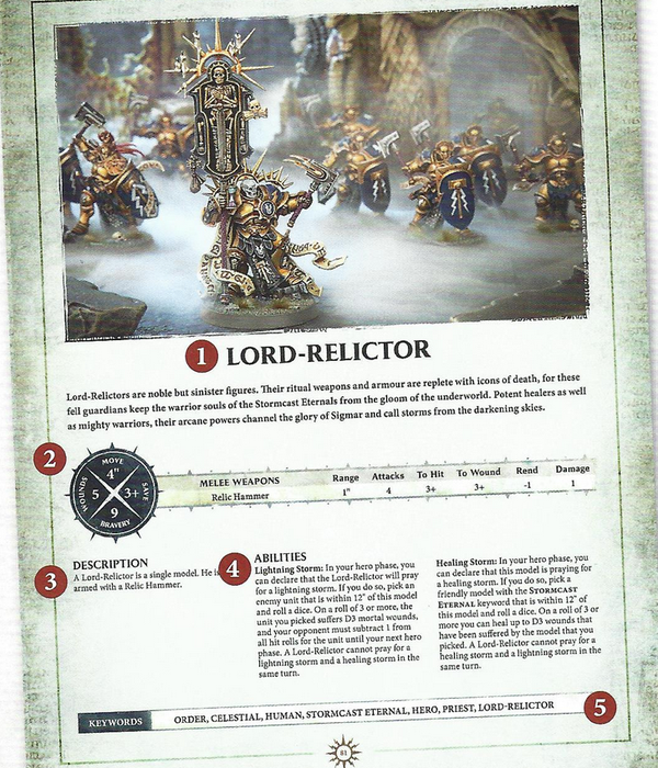 Warhammer AOS Warscroll Lord-Relictor