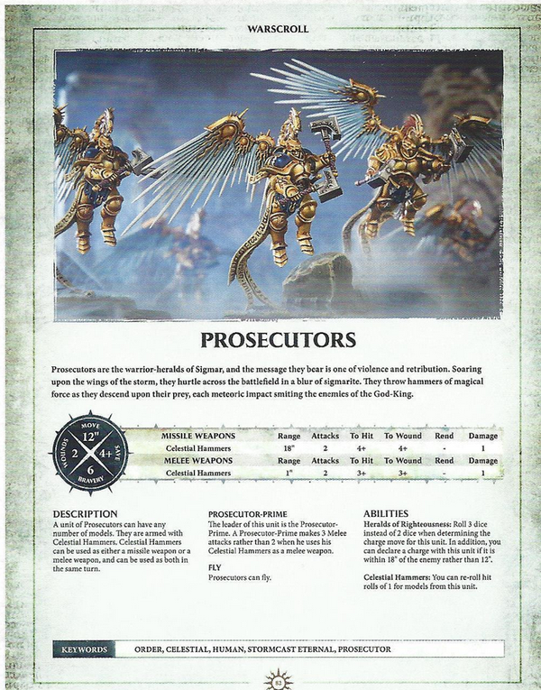 Warhammer AOS Warscroll Prosecutors