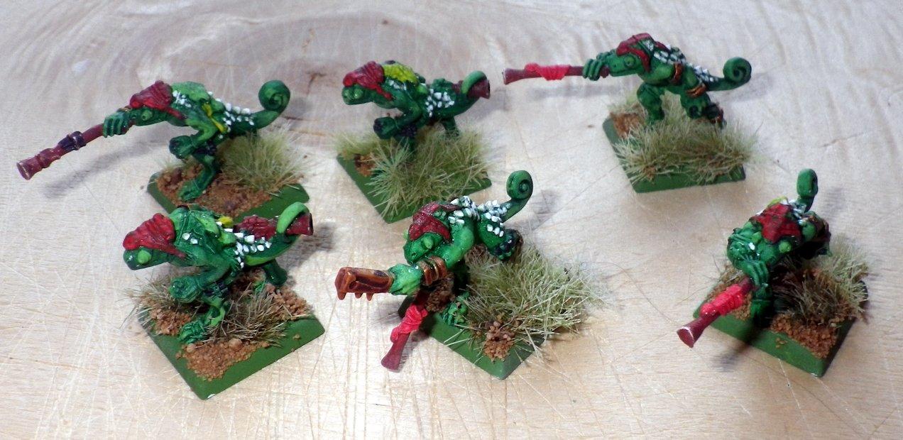 Eslizones Camaleon Hombres Lagarto Warhammer