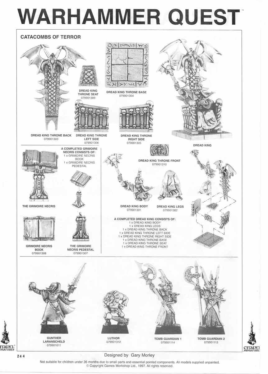 Warhammer Quest Catacombs of Terror miniatures