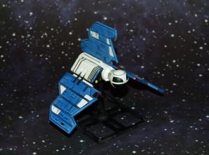 Esta navecilla de X-Wing ha sido pintada.