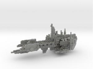Si fuera malpensado diría que han escaneado un Crucero de Asalto Marine para hacer este diseño.