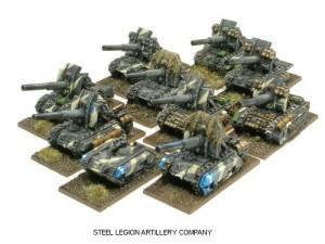 Una Compañía de Artillería de la Legión de Tanques de Minerva