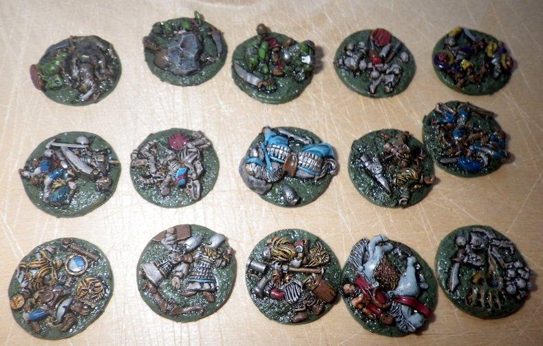 Marcadores de bajas Warmaster