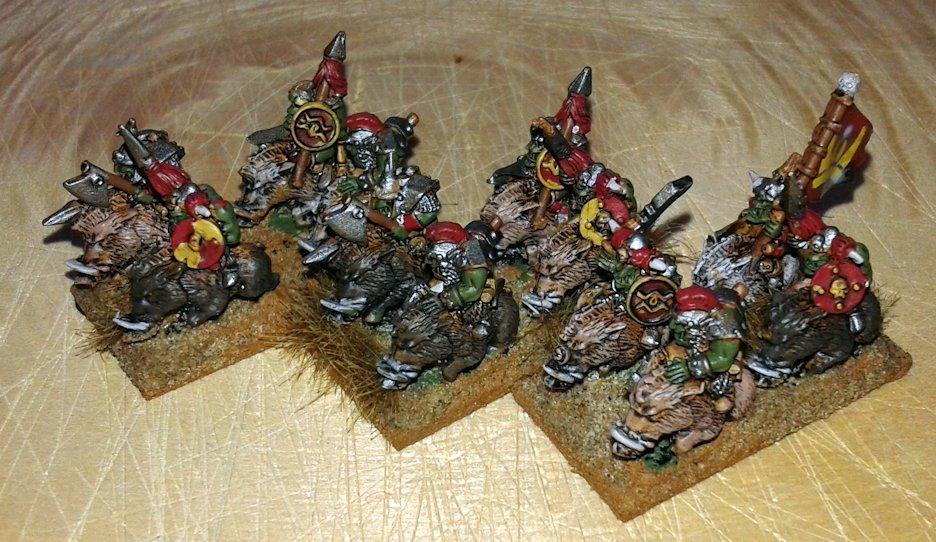 Warmaster Orcos y goblins Nama Jinetez de Jabali