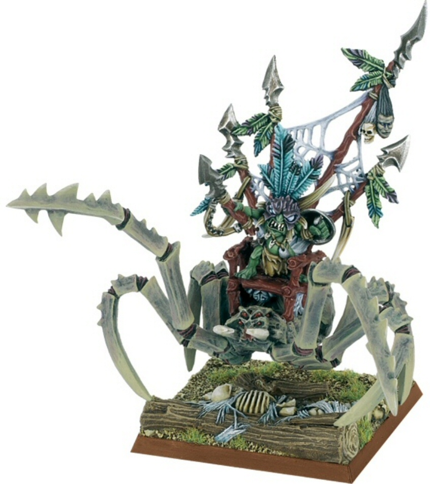 Personaje Goblin en Araña Gigantesca